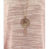 Tunique bijou longue asymétrique grande taille rose MARYLINE