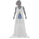 Robe longue été dentelle coton boho blanche ADRIANA