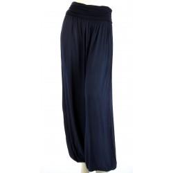 Pantalon sarouel fluide large marine MARLO