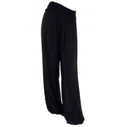 Pantalon sarouel fluide large noir MARLO