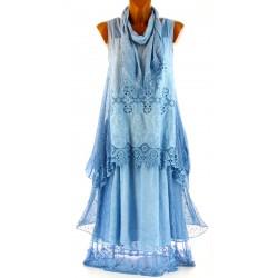 robe été ensemble 3 pièces bohème dentelle AURORE