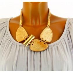 Gros collier bijoux couture fantaisie en résine SIGMA