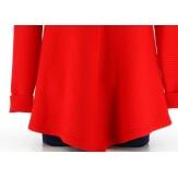 Pull tunique trapèze asymétrique hiver rouge CHRISTOPHE