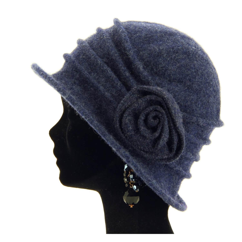 Catherine Navy Laine Chapeau Bonnet Hiver Bouillie 100 Cloche qd6Yaxna0