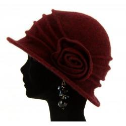 Bonnet chapeau cloche laine CATHERINE Bordeaux-Chapeau cloche-CHARLESELIE94