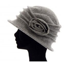 Bonnet chapeau cloche laine CATHERINE Gris clair Chapeau cloche