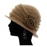 Bonnet chapeau cloche laine CATHERINE Taupe Chapeau cloche