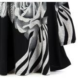 Tunique longue ample bohème  noir DELPHINE