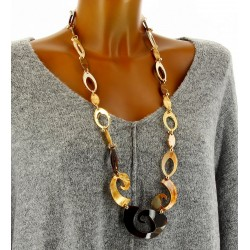 sautoir collier long couture chic résine OSIRIS