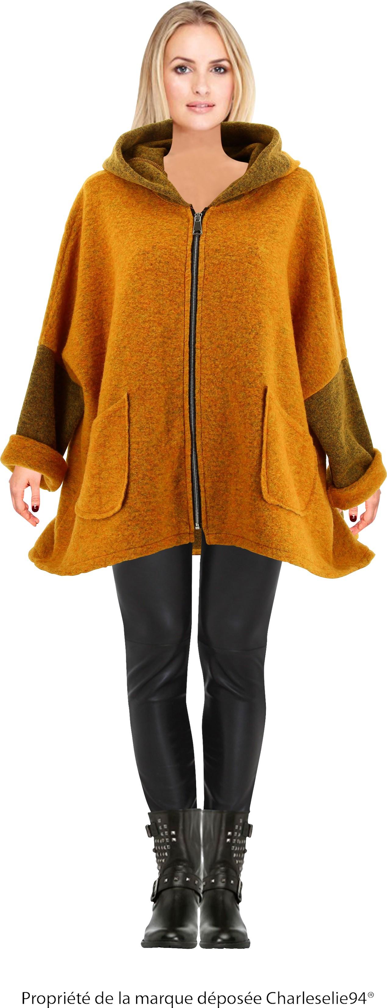 manteau long laine bouillie capuche manteaux populaires et branch s en france. Black Bedroom Furniture Sets. Home Design Ideas