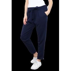 Pantalon fluide chino grande taille lycra bleu SOPHIE