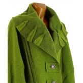 Manteau long hiver laine bouillie grande taille femme pomme KARLA