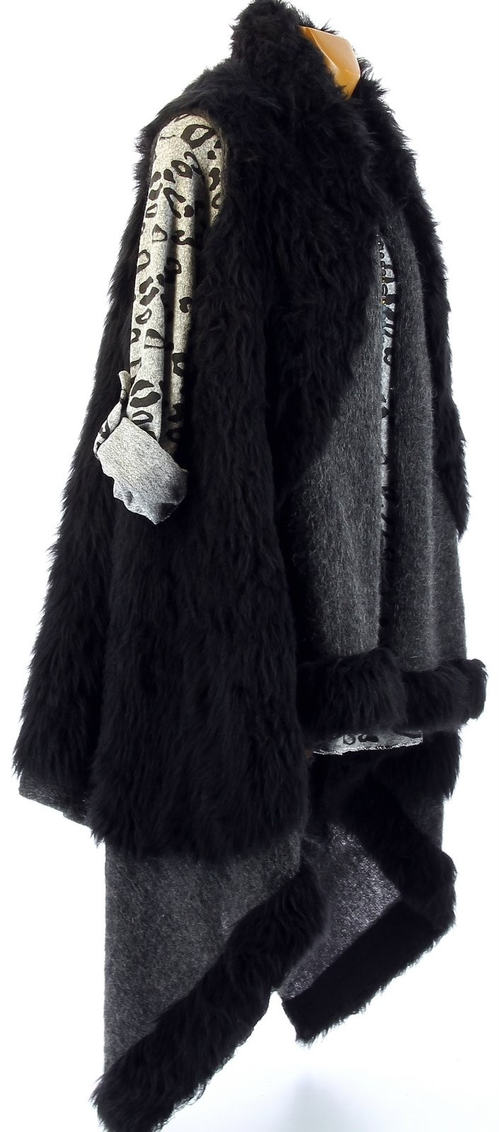 Gilet sans manche fourrure noir fashion designs - Gilet fausse fourrure noir ...