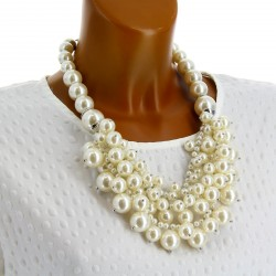Gros collier couture perles chic GEORGES