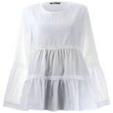 Tunique chemisier blouse coton dentelle  JUSTINE