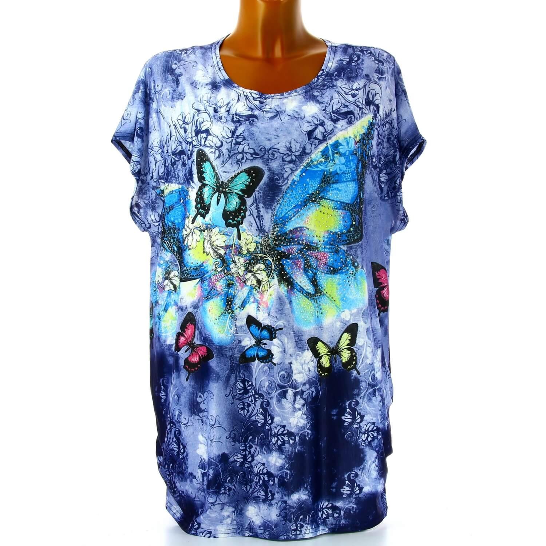 T-Shirt Tunique à Manches Courtes Grande-Taille Gris 5X PXT25364. Tunique  ... 701480ef655