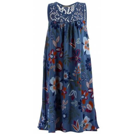 Robe grande taille été dentelle MARGUERITE Bleu jean-Robe été femme-CHARLESELIE94