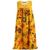 Robe été bohème dentelle grande taille moutarde MARGUERITE-Robe été femme-CHARLESELIE94