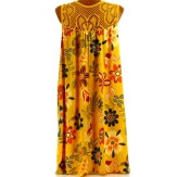 Robe été bohème dentelle grande taille moutarde MARGUERITE