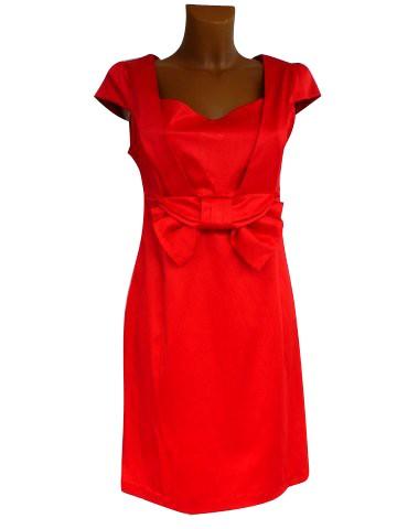 robe de soir e satin victoria rouge mariage c r monie. Black Bedroom Furniture Sets. Home Design Ideas