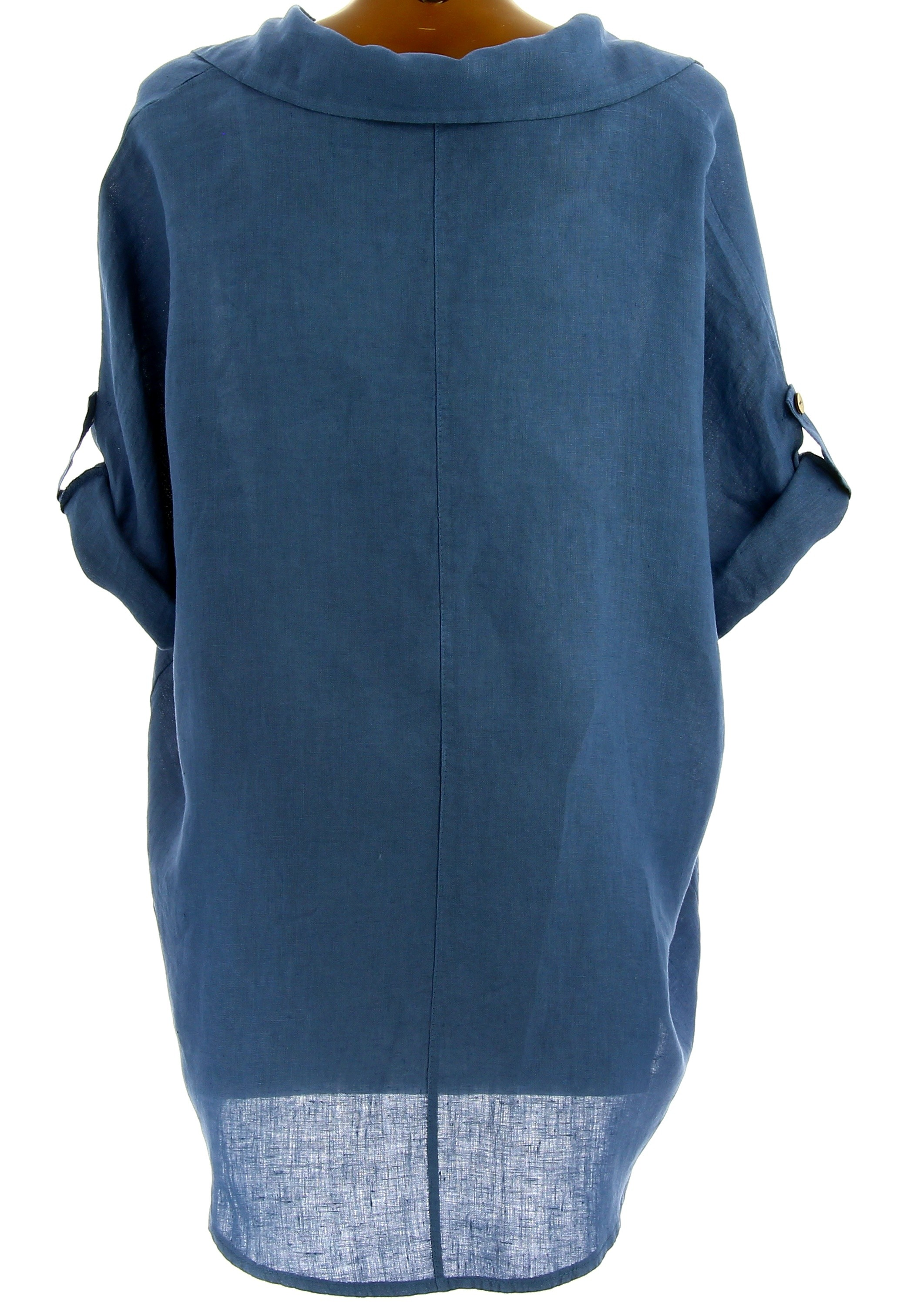 chemise femme lin t tunique boh me grande taille bleu jean perigord. Black Bedroom Furniture Sets. Home Design Ideas