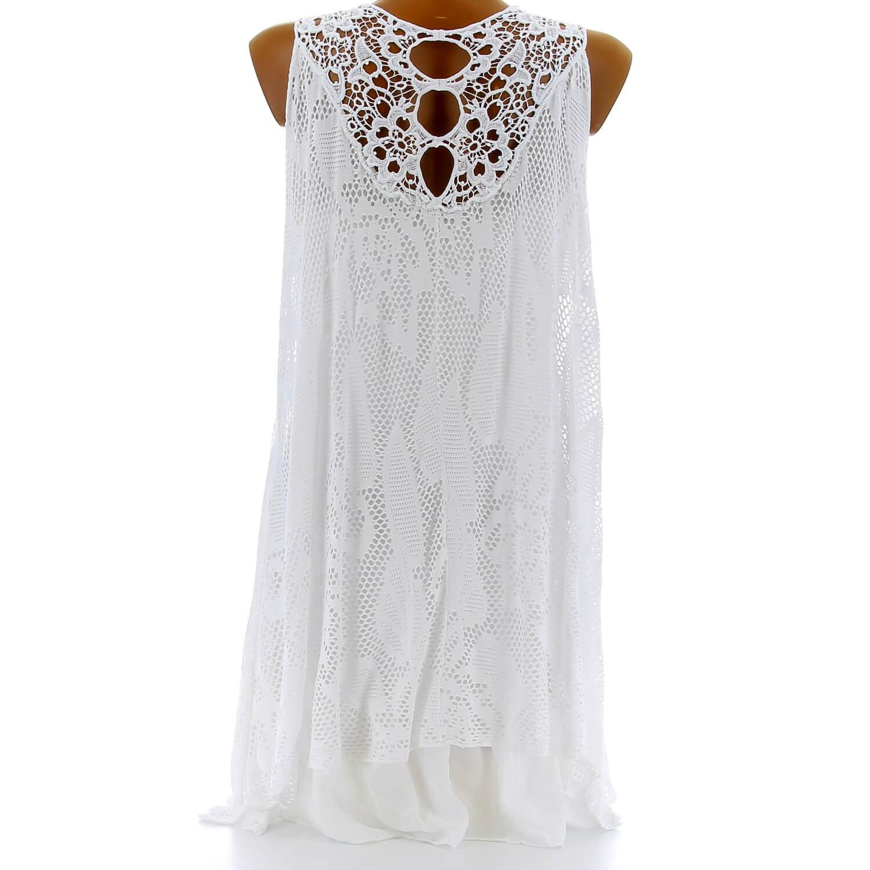 tunique longue dentelle t robe boh me blanc armanda charleselie94