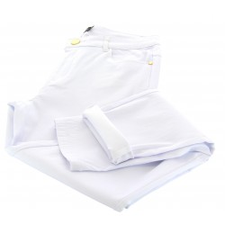 Jean pantalon femme grande taille slim stretch blanc CELIA