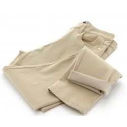 Jean pantalon femme grande taille slim stretch beige  CELIA