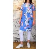 Robe tunique trapèze bohème grande taille lavande MONICA