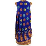 Robe été asymétrique bohème grande taille bleu royal BELINDA