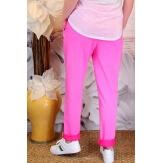 Pantalon jogg femme loose taille haute fushia CECILE