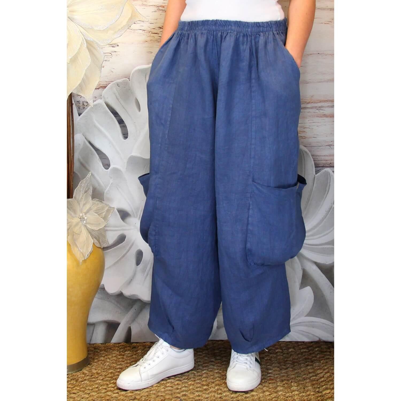 Anthos Femme Jean Lin Qdr4wgq Grande Bleu Taille Ample Pantalon RjL3qSc54A