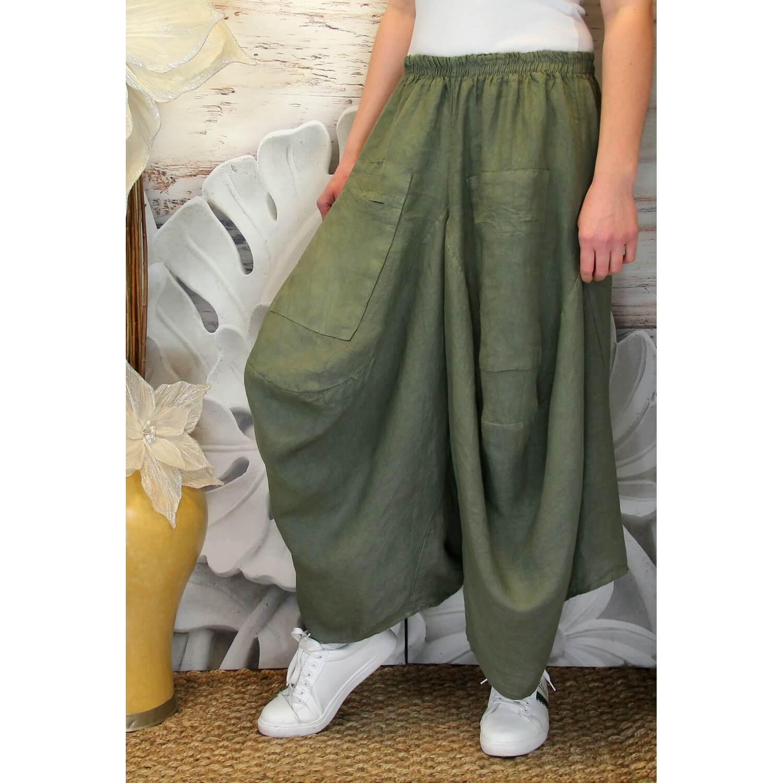 Taille Femme Pantalon Kaki Bohème Jupe Marco Lin Grande EH2Y9IWD