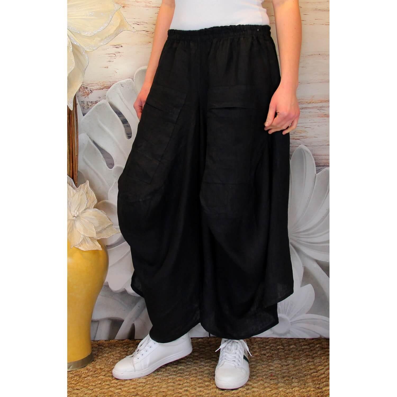 Lin Grande Noir Femme Taille Pantalon Jupe Marco Bohème 1vHEqPxw 0f4b9a58bfe