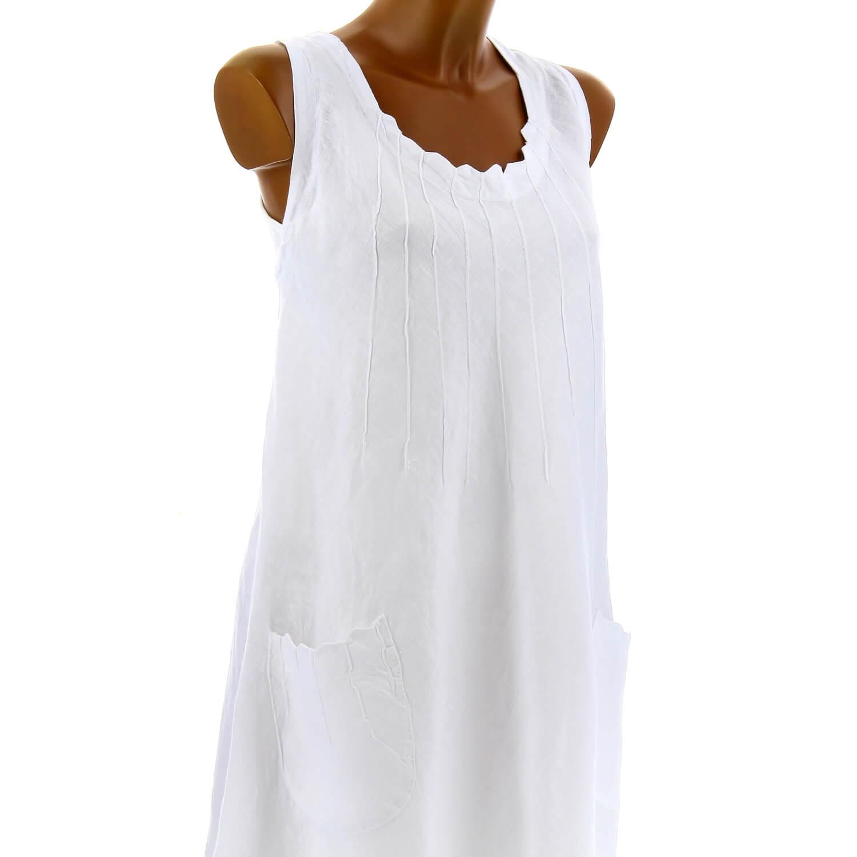 f3d7c4b173 Robe Femme Lin Grande Été Taille Zigzag Bohème Blanche rrqwdZp