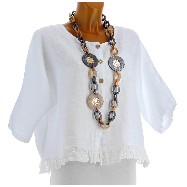 Veste Boheme Chic : veste femme bol ro lin boh me grande taille blanc froufrou ~ Farleysfitness.com Idées de Décoration