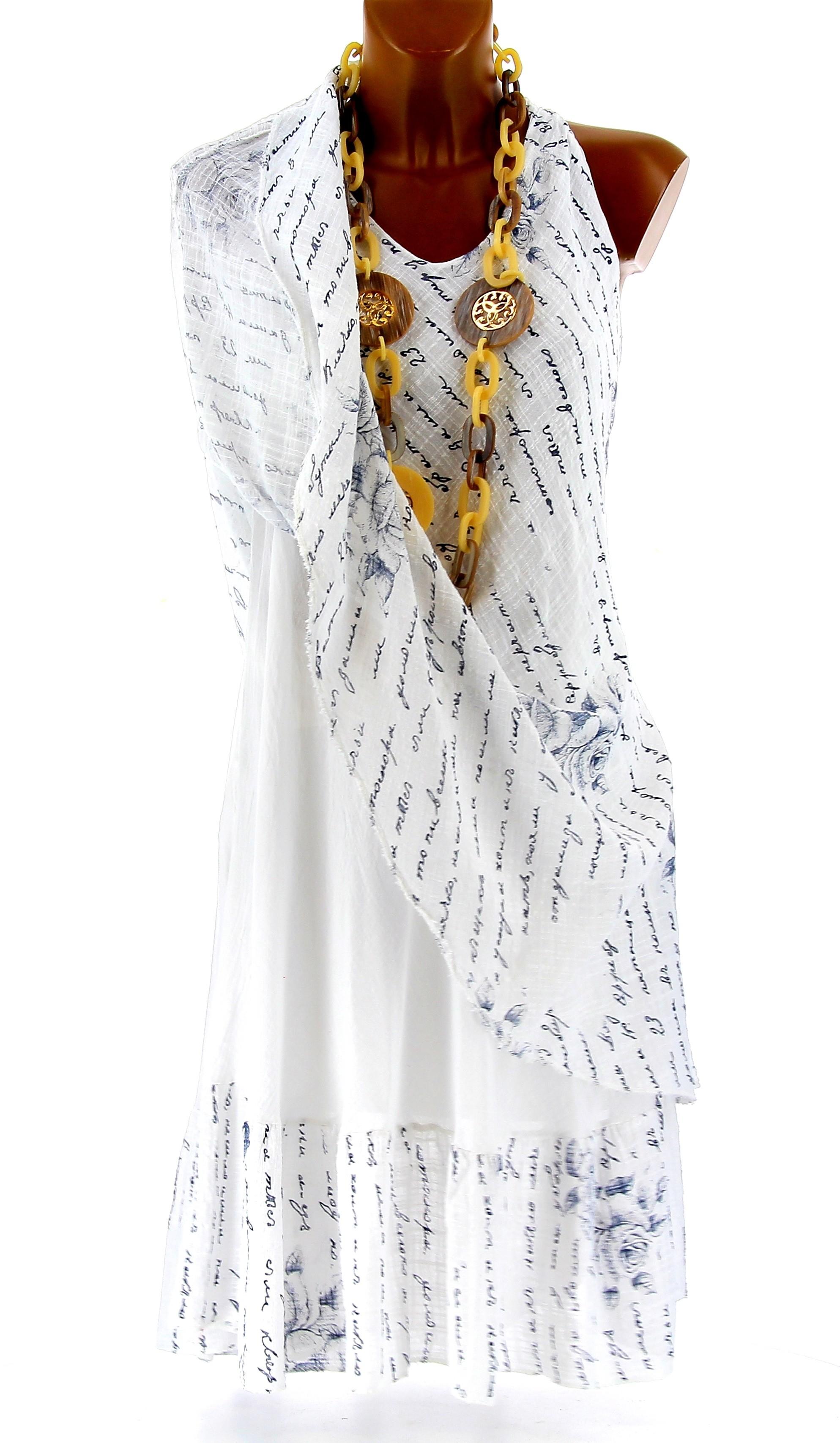 robe grande taille t boh me chic blanche pagnol. Black Bedroom Furniture Sets. Home Design Ideas