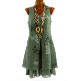 Robe grande taille été bohème chic kaki PAGNOL