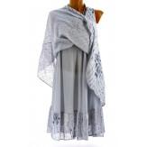 Robe grande taille été bohème chic gris PAGNOL