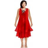Robe grande taille été bohème chic rouge PAGNOL