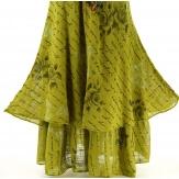 Robe grande taille été bohème chic anis PAGNOL