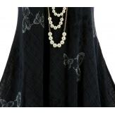 Robe grande taille été bohème chic gris noir PAGNOL