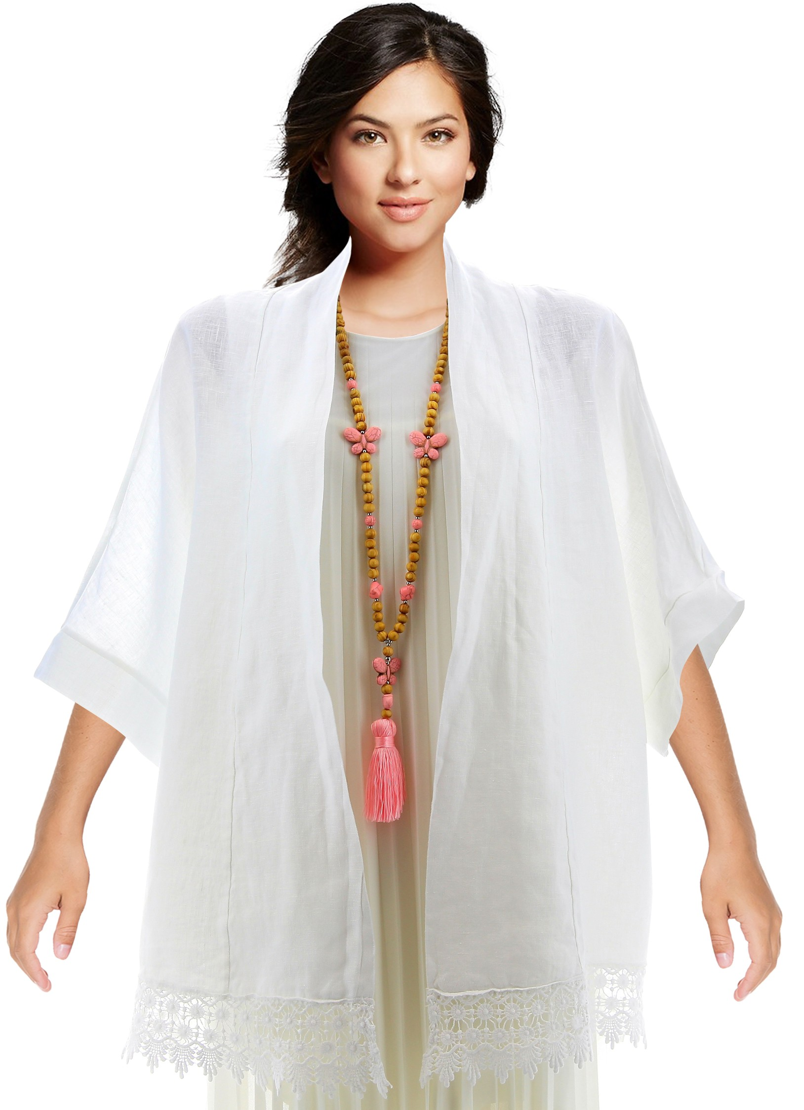 Veste blanche femme robe