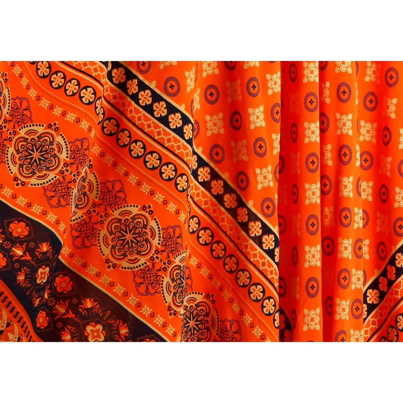 asimétrico oro Vestido naranja bohemio largo étnico de verano de k0wOnP