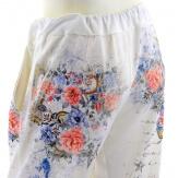 Pantalon jogg femme loose taille haute blanc SABRINA