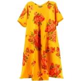 Robe grande taille longue été lin bohème mandarine BABYLONE