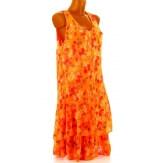 Robe grande taille été bohème orange MIRABELLE