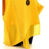 Tunique grande taille lin été bohème jaune SOPHIA