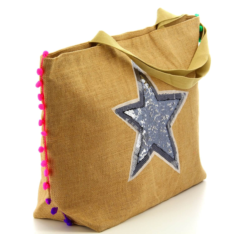 sac main de plage cabas toile de jute xxl toile s01. Black Bedroom Furniture Sets. Home Design Ideas