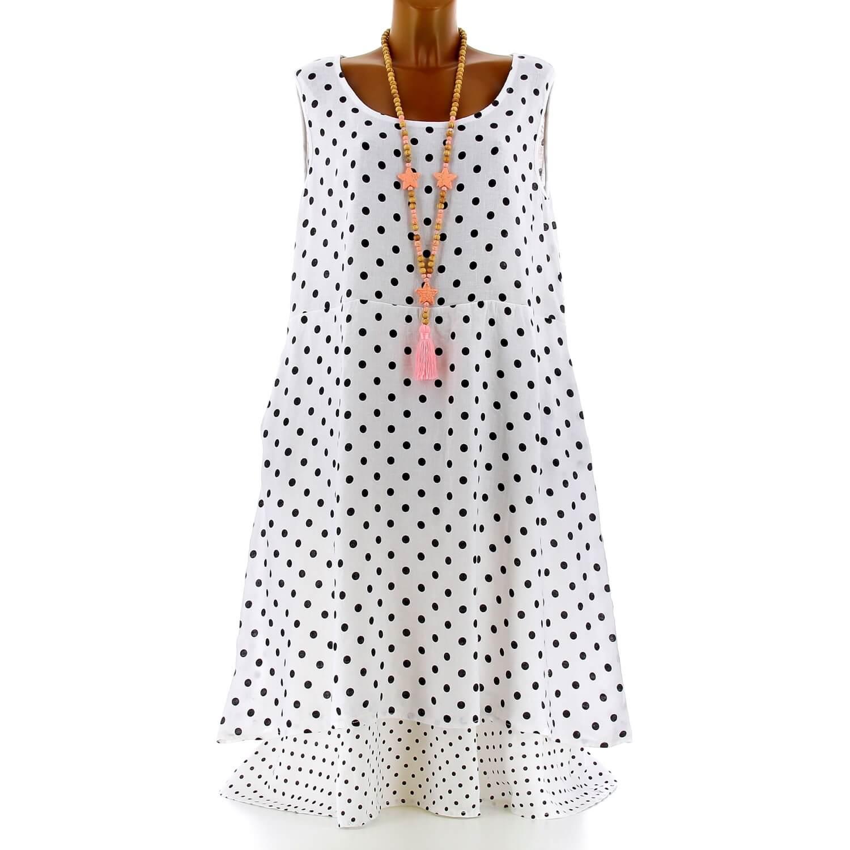 best quality for whole family wholesale dealer Robe longue grande taille lin été bohème chic blanc BONHEUR